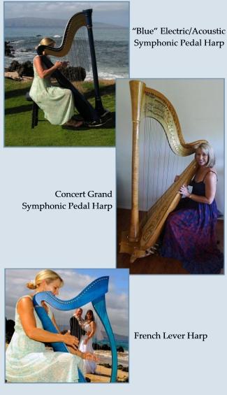 Professional Harpist on Maui - Concert Harpist on Maui, Maui Wedding